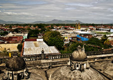 Panoramic View of Leon, Nicaragua. A panoramic view of the city of Leon, Nicaragua, Central America, as seen from the roof of the cathedral known as the Basilica Stock Photography