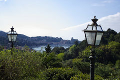 Panoramic view of Lerici, Italy Royalty Free Stock Photo