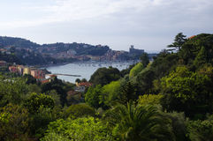 Panoramic view of Lerici, Italy Stock Photography