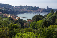 Panoramic view of Lerici, Italy Royalty Free Stock Image