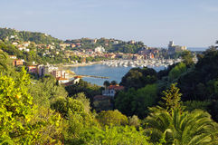 Panoramic view of Lerici, Italy Stock Photos