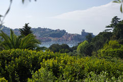 Panoramic view of Lerici, Italy Royalty Free Stock Photography