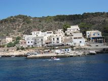 Panoramic view of Levanzo stock photography