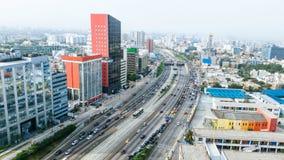 Panoramic view of the Lima express stock photos