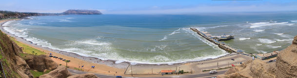 Panoramic view of Lima, Peru Stock Photos