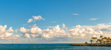 Panoramic view of Limassol coast line. Cyprus Stock Images