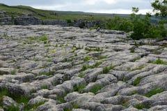 Limestone Pavement, Malham Cove, Yorkshire, UK stock image