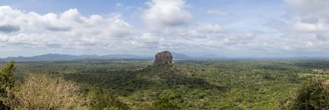 Panoramic view of the Lion Rock in Sigiriya, Sri Lanka stock photo