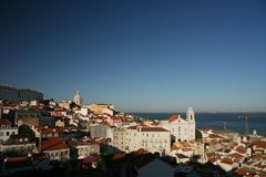 Panoramic view, Lisbon Stock Image