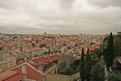Panoramic view of Lisbon Stock Photo