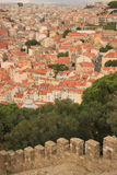 Panoramic view of Lisbon Stock Image
