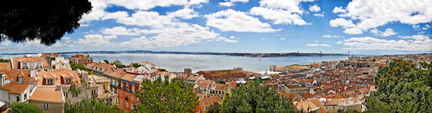 A panoramic view of Lisbon city Royalty Free Stock Photography