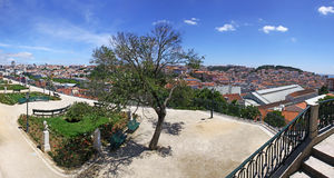Panoramic view of Lisbon Royalty Free Stock Photo