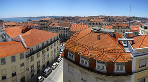 Panoramic view of Lisbon city, Portugal Stock Images