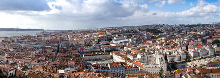 Panoramic View Lisbon Royalty Free Stock Photography