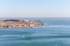 Panoramic view of Lisbon Old Town Stock Photo