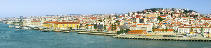 Panoramic view of Lisbon, Portugal, Europe Stock Photos