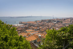 Panoramic view of Lisbon, Portugal, Europe Stock Images