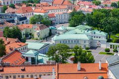 Panoramic view of lithuanian president house Stock Photography