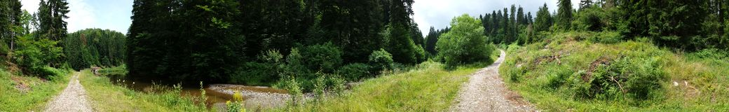 Panoramic view of the little lake Jarevac Royalty Free Stock Photo