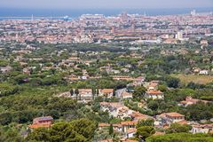 Panoramic view of Livorno Stock Images