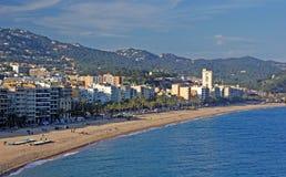 Panoramic view of Lloret de Mar royalty free stock image