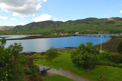Panoramic view of Lochness Royalty Free Stock Images