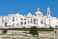 Panoramic view of Locorotondo. Puglia. Italy. Royalty Free Stock Photography