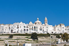 Panoramic view of Locorotondo. Puglia. Italy. Stock Photos