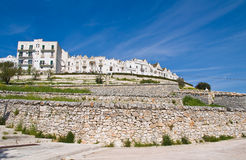 Panoramic view of Locorotondo. Puglia. Italy. Stock Image