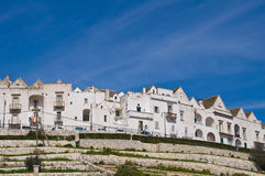 Panoramic view of Locorotondo. Puglia. Italy. Stock Photo