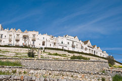 Panoramic view of Locorotondo. Puglia. Italy. Stock Images