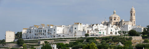 Panoramic view of Locorotondo on Puglia Royalty Free Stock Photography
