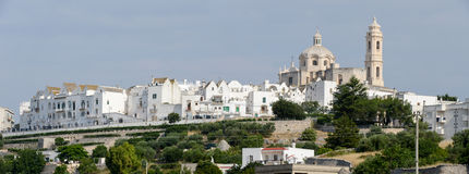 Panoramic view of Locorotondo on Puglia Royalty Free Stock Images