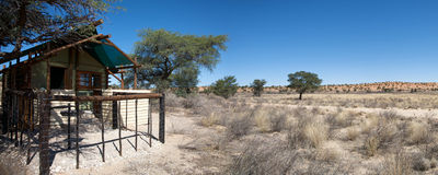 Panoramic view of a lodge Stock Images