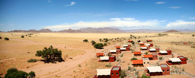 Panoramic view of the lodge in sossusvlei Stock Image