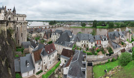 Panoramic view on Loire valley Royalty Free Stock Photography