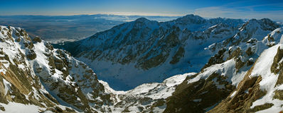 Panoramic view from Lomnicky peak in Slovakia Stock Photography