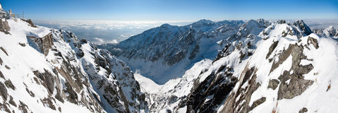 Panoramic view from Lomnicky Peak, Slovakia Royalty Free Stock Photos