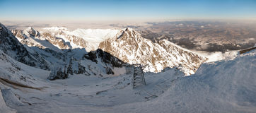 Panoramic view from Lomnicky Peak, Slovakia Stock Photography