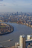 Panoramic View of London stock images