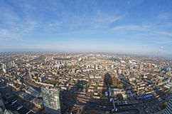 Panoramic View of London. A view from 900 feet above the ground across London looking north toward the Olympic Village. This image was taken from the top of Stock Photos
