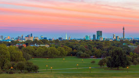 Panoramic View of London Cityscape Stock Photos