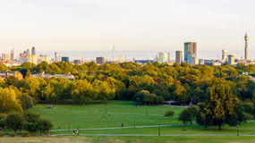 Panoramic View of London Cityscape Royalty Free Stock Images
