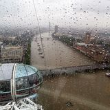 Panoramic view from London Eye Royalty Free Stock Photography