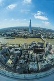 Panoramic view of London from Sky Garden in Walkie Talkie Royalty Free Stock Images