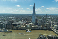 Panoramic view of London from Sky Garden in Walkie Talkie Royalty Free Stock Image