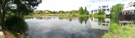 Panoramic view. Of lonehill dam in southafrica Royalty Free Stock Photography