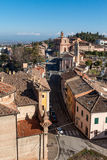 Panoramic view of longiano Stock Photo