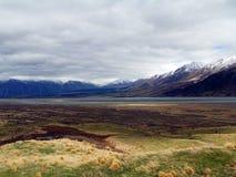 Panoramic View from Edoras; Mount Sunday, New Zealand Royalty Free Stock Photos
